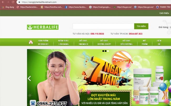 Lý do Cục ATTP khuyến cáo không mua Herbalife trên các website này?