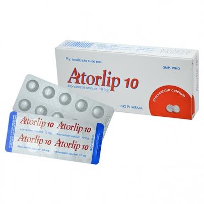 Atorlip 10: Chỉ định, chống chỉ định, cách dùng