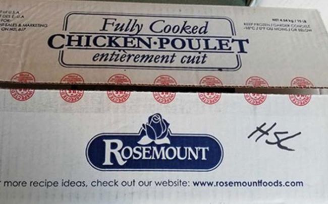 Canada thu hồi sản phẩm thịt gà hiệu Rosemount nhiễm khuẩn Listeria