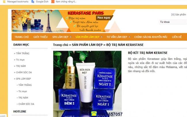 Cảnh báo hàng mỹ phẩm KÉRASTASE giả tràn ngập các cửa hàng online