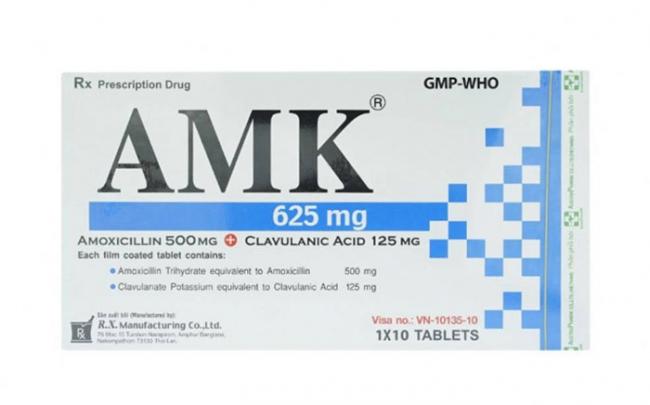 Đình chỉ lưu hành sản phẩm viên nén bao phim AMK 625 của Công ty cổ phần dược phẩm và sinh học y tế
