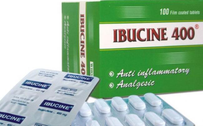 Đình chỉ lưu hành thuốc Ibucine 400 do không đạt tiêu chuẩn chất lượng