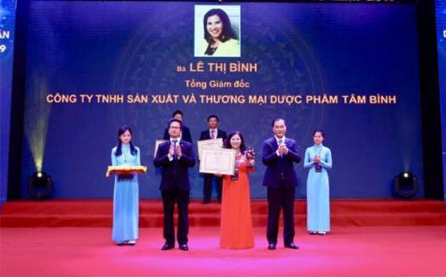 Dược phẩm Tâm Bình được vinh danh 100 doanh nhân Việt Nam tiêu biểu 2019