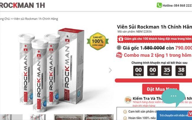 Sản phẩm Rockman bị thu hồi giấy xác nhận nội dung quảng cáo