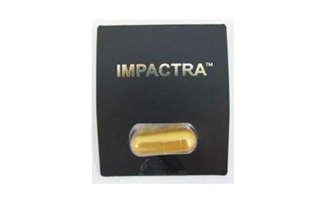 Sản phẩm thực phẩm bảo vệ sức khỏe Impactra có chứa sildenafil, tadalafil và chloropretadalafil