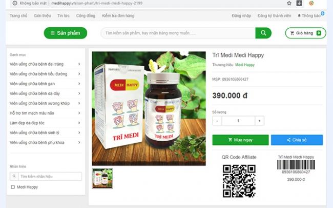 Sản phẩm Trĩ Medi - Medi Happy: Lập lờ quảng cáo, có dấu hiệu 'lừa dối' người tiêu dùng