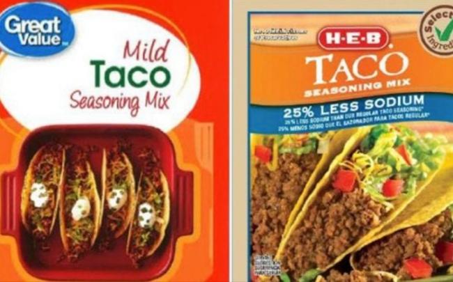 Thu hồi gia vị taco bán trong Walmart vì nhiễm vi khuẩn salmonella