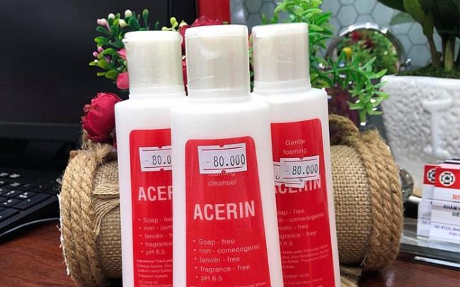 Thu hồi sản phẩm sữa rửa mặt chuyên dụng Acerin không đảm bảo chất lượng
