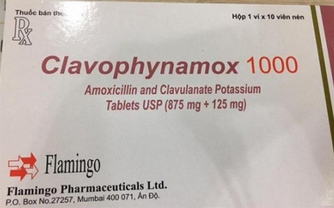 Thu hồi thuốc viên nén bao phim Clavophynamox 1000 và thu hồi 4 loại mỹ phẩm