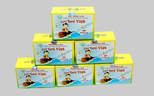 Thu hồi toàn quốc lô Cốm Trẻ Việt do Viện Dược liệu sản xuất không đạt tiêu chuẩn chất