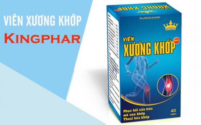 Viên xương khớp Kingphar New quảng cáo sai công dụng trên một số website